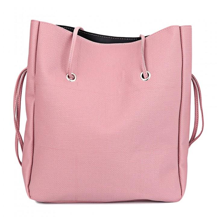 f32bc545ba Guapabien Fashionable 2pcs PU Leather Pure Color M LIGHT PINK