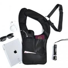 Security Anti-theft Hidden Armpit Shoulder Bag Mob BLACK