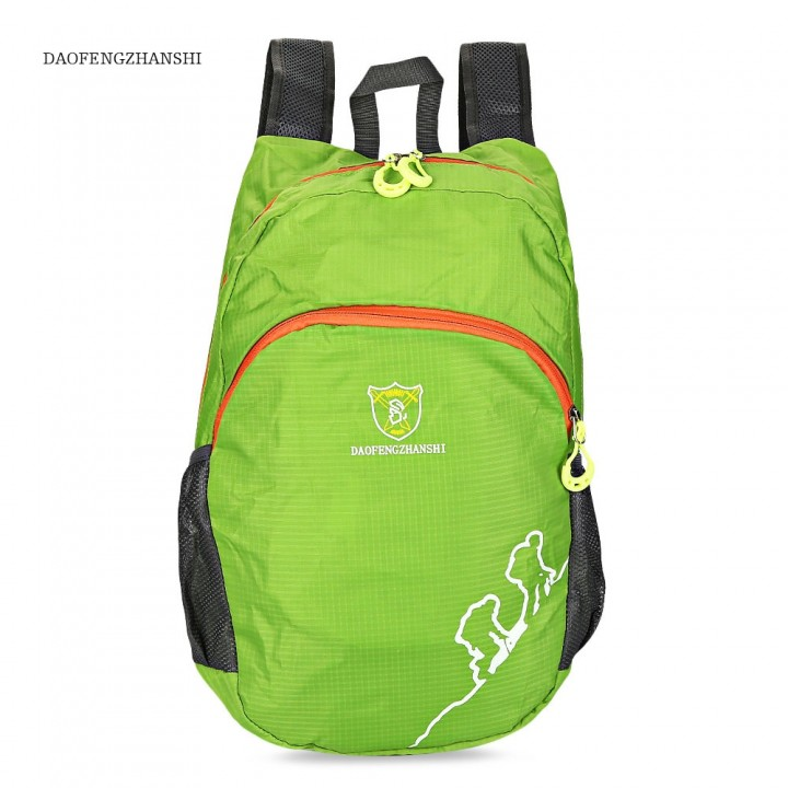 DAOFENGZHANSHI Light Portable Hiking Bag Folded Tr ORANGE