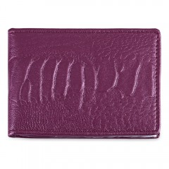 Pure Color Leather License Case Card Holder PURPLE