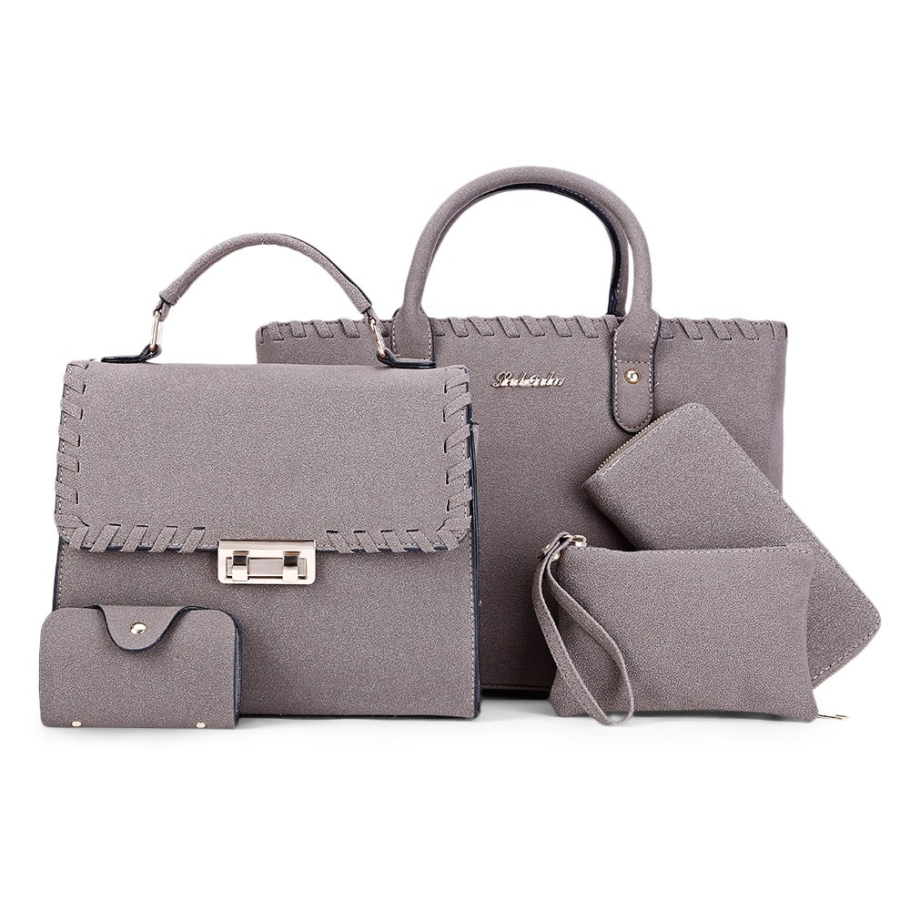 217e2099ddf8 Women 5pcs Shoulder Satchel Bag Female Handbag Pur GREEN   Kilimall ...