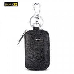 SMARTLB Men Smart Bluetooth Leathe Anti-lost Keychain r BLACK