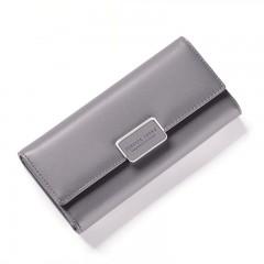 Fashion Women Wallet Clutch Purse Female Long Leat GRAY