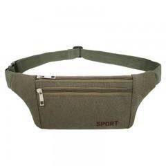 Waist Belt Bag Jogging Pouch Pocket Light Weight O ARMY GREEN