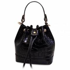 Fashion Style Crocodile Print and String Design Wo BLACK