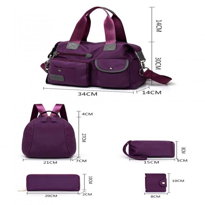 Five Sets of Cloth Grain Lash Bag Handbag