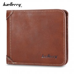Baellerry PU Leather Men Wallet Coin Pocket Vintag BROWN