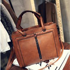 Guapabien Fashion Elegant Faux Leather Women Tote Bag Handbag Casual Handbag Casual Shoulder Bag brown 30*11*23CM
