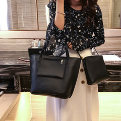 2018 autumn and winter new European and American handbag four pieces of women's bag black 4PCS