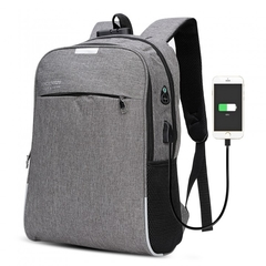 019 New multi-function men's backpack Korean version of the wild outdoor leisure business bag gray 16inch
