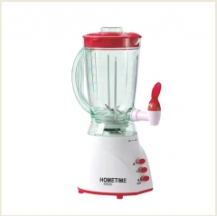 LIVINGTON HOMETIME 1.5 ltr  BLENDER, DURABLE TANK WITH EXTRA PIN M6358 Rose Red& Clear 1.5ltrs