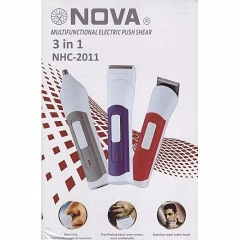 NOVA 3in1 NHC-2011 WIRELESS HAIR CUTTING WITH RECHARGEABLE ELECTRIC BATTERY grey normal