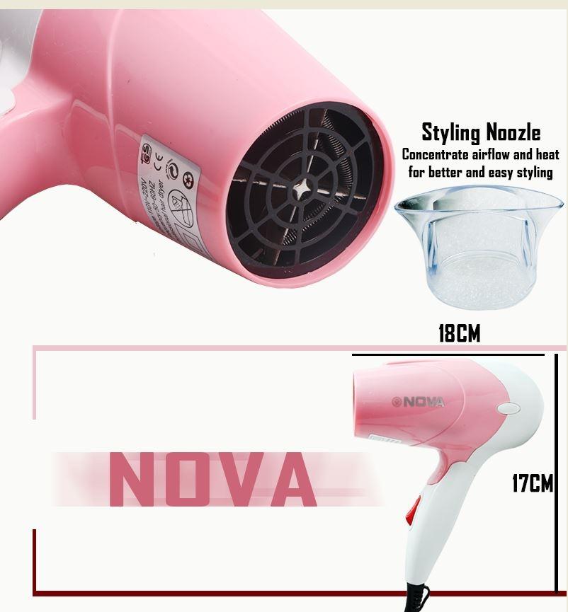 Sèche-cheveux pliable Nova - Sèche-cheveux rose normal 3