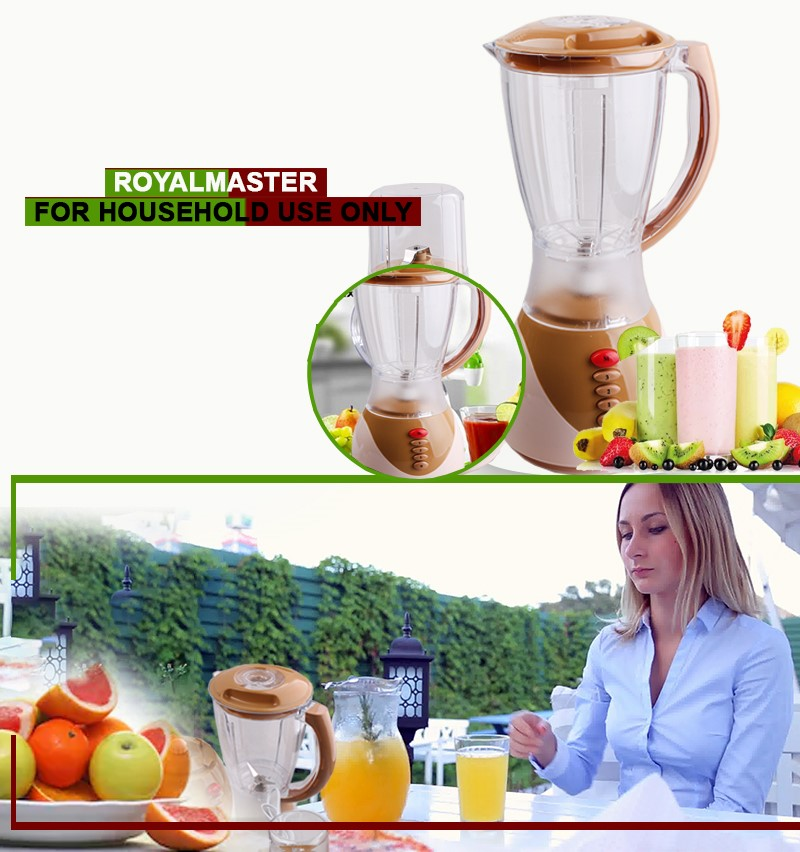 ROYAL MASTER BLENDER BS-1156 2in1 1.5ltrs WITH GRINDER As Picture 1