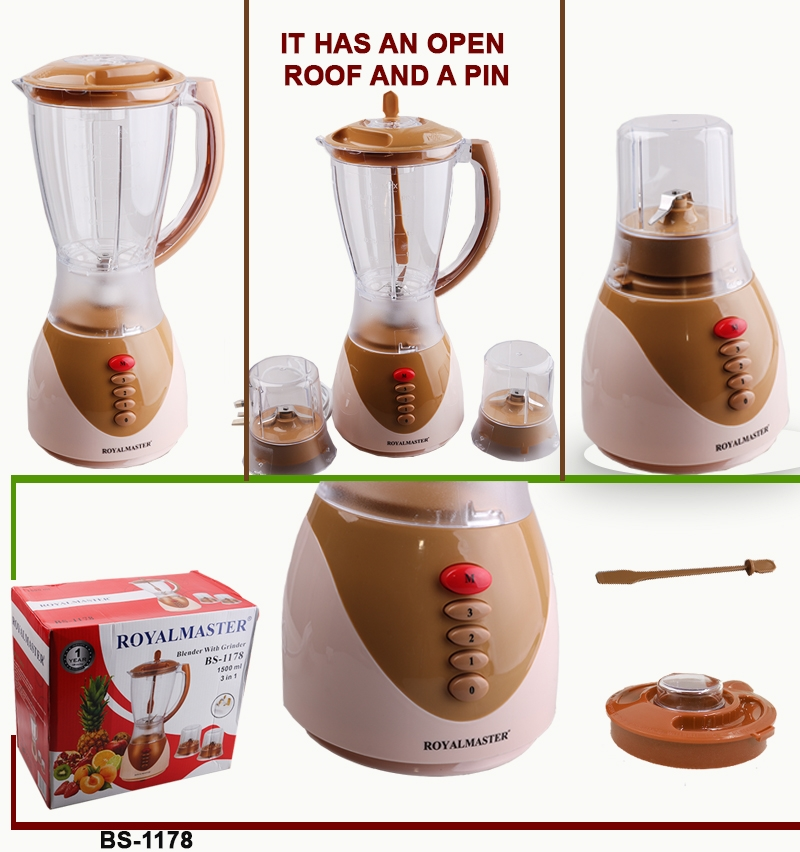 ROYAL MASTER BLENDER BS-1178 3in1 1.5ltrs WITH GRINDER as picture 3