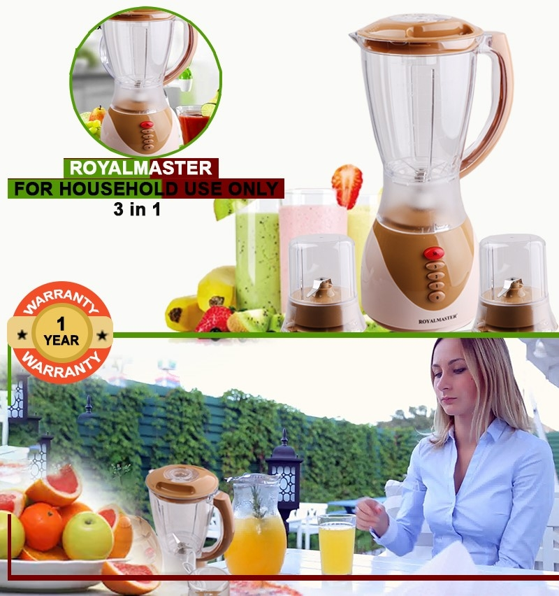 ROYAL MASTER BLENDER BS-1178 3in1 1.5ltrs WITH GRINDER as picture 1