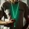 WANS Brand Earphone Luminous Light Metal Zipper Headphone Earbuds Glow In The Dark Headset Random color