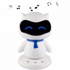 WANS Portable Cute Robot Smart Column Bluetooth Speaker With Music Calls Handsfree TF MP3 AUX white 3w*1 wz1341