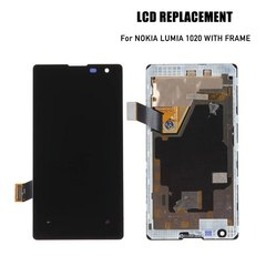 WANS Lumia1020 LCD with frame high quality glass black one size
