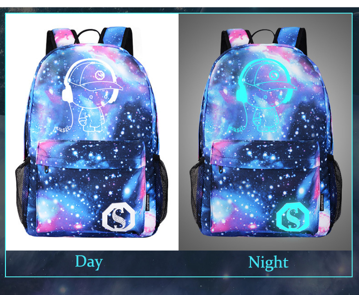 fdb723fb9af New Luminous School Bags For Boy Starry Sky Student Backpack Daypack  Shoulder with USB Charging without