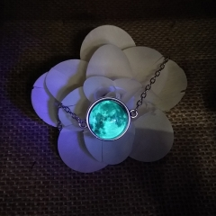 Glow in the Darkness Crystal Bracelet Luminous Star Series Planet Bracelets & Bangles Glass Cabochon blue one size