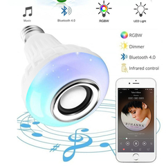 WANS LED Wireless Bluetooth Bulb Light Speaker subwoofer RGB Smart Music Play Valentine's Day white 3w*1 wz1333