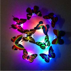 Wall Decor Colorful Changing Butterfly LED Night Light Lamp Home Room Party Desk Decorations colour 1 piece