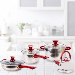 KAISA VILLA High Quality 8PCS Cookware Set Casserole with lid as picture 8 pcs