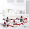 KAISA VILLA KV6610 High Quality  Cookware Set Casserole with lid as picture 8 pcs