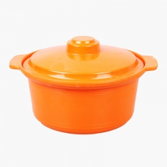 Kitchen Bowl with Lid Ears Home Dormitory Microwave Oven Creative Soup Bowl Salad Bowl random color 21*10cm