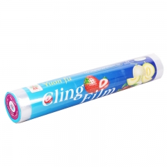 Disposable Plastic Wrap Household Kitchen Food Refrigerator Refrigerated Vegetables Cling Film(0155) white 30cm*100m