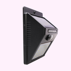 LED solar light outdoor home garden wall lamp Motion Sensor(020) Black 0.5W