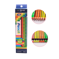 Transull 12PCS 2B Pencil Color Wood Set Pencils School Office Stationery for Students (YL815088-1) random color 12pcs