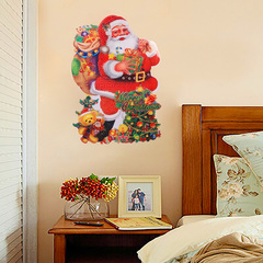 TRANSULL Santa Wall Stickers Decoration Window Wall Stickers on Christmas (SA) red 45*35cm