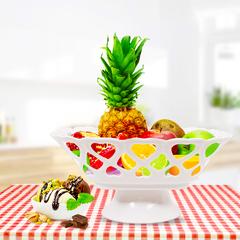 Plastic Fruit Plate Snacks Plate(81612) Flower color random as picture