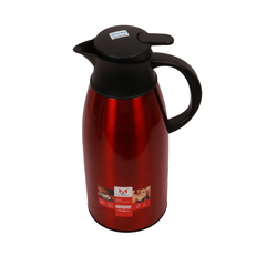 Transull 1.9L Stainless Steel Thermos Flask Coffee Pot (DF-A13 1.9L) Red