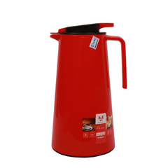 Transull 1.3L Kettle Vacuum Thermos Flask Coffee Pot  Glass Inner (FWH-SL6026-1.3L) red