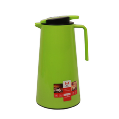 Transull 1.3L Kettle Vacuum Thermos Flask Coffee Pot  Glass Inner (FWH-SL6026-1.3L) green