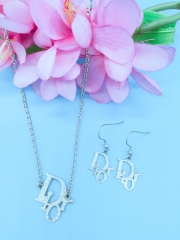 Fashion jewelry women earring pendant 2 set silver free