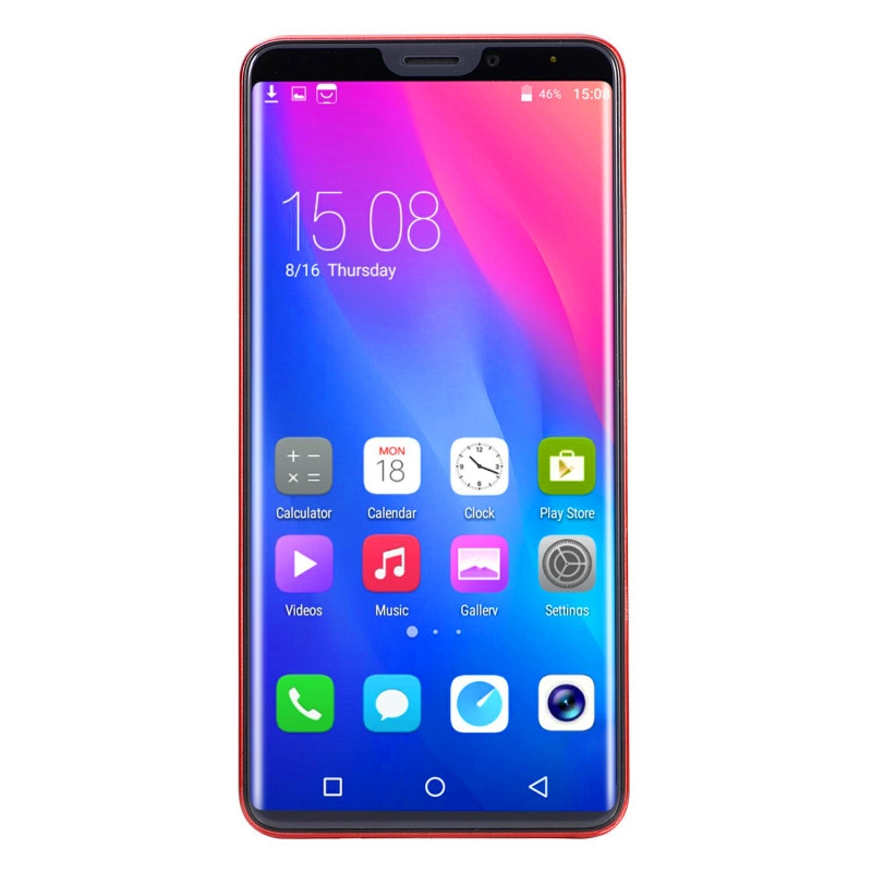 New mobile phone X21 6.1 Inch  4GB+64GB Full screen  8MP+16MP Smart phone Doule SIM card blue 9