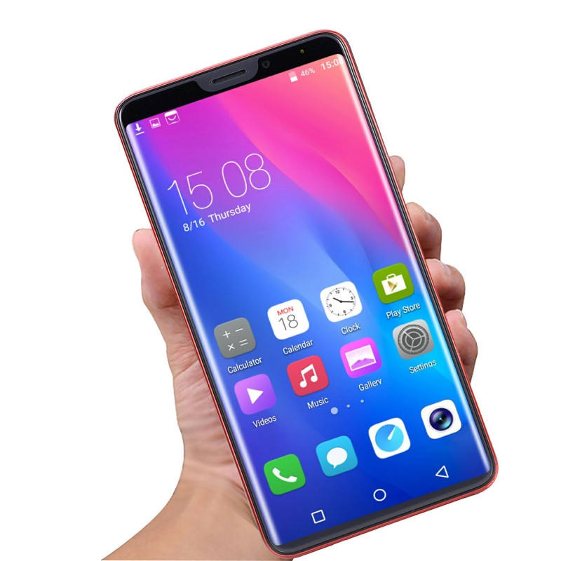 New mobile phone X21 6.1 Inch  4GB+64GB Full screen  8MP+16MP Smart phone Doule SIM card blue 8