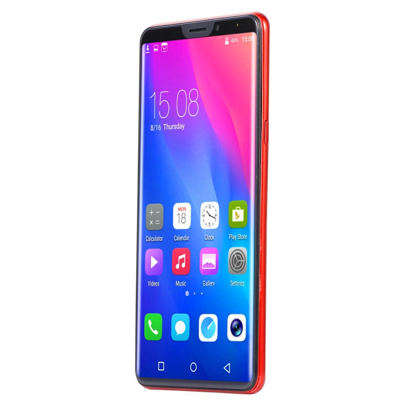 New mobile phone X21 6.1 Inch  4GB+64GB Full screen  8MP+16MP Smart phone Doule SIM card blue 7