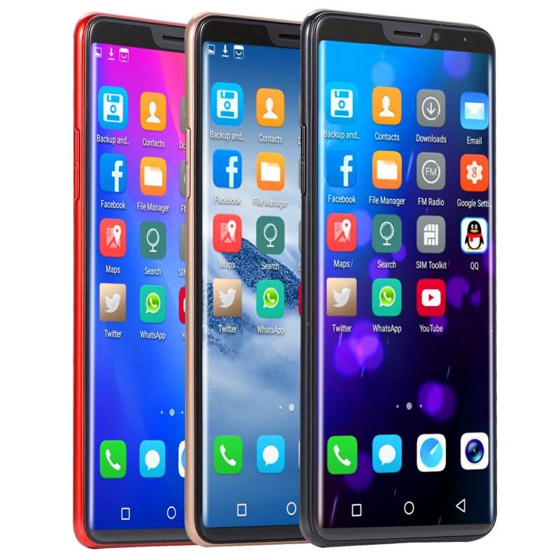 New mobile phone X21 6.1 Inch  4GB+64GB Full screen  8MP+16MP Smart phone Doule SIM card blue 3