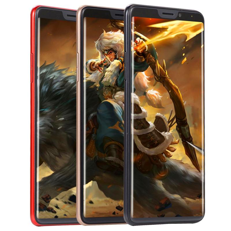 New mobile phone X21 6.1 Inch  4GB+64GB Full screen  8MP+16MP Smart phone Doule SIM card blue 12