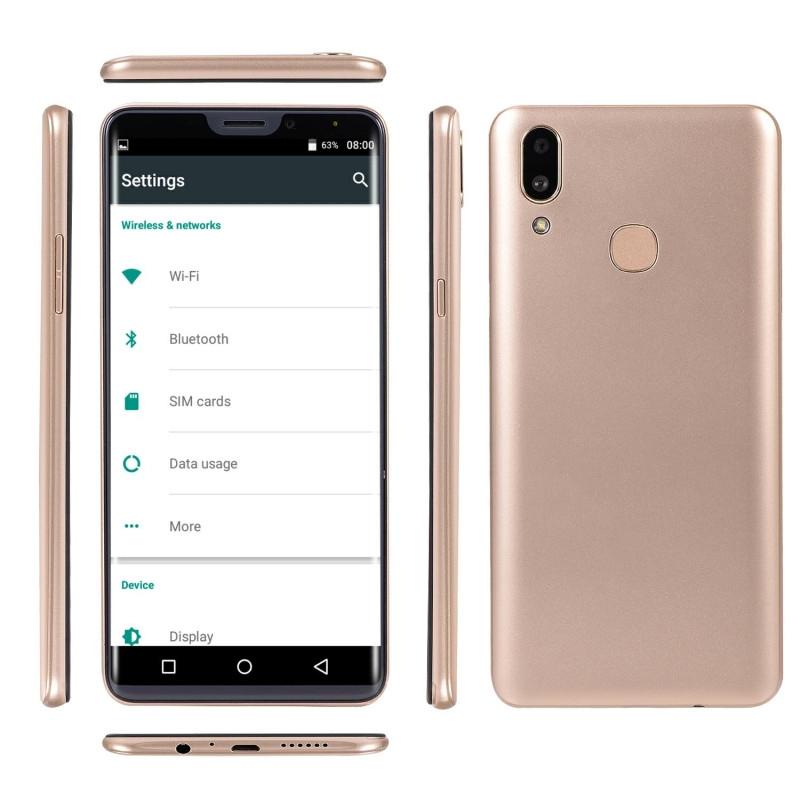 New mobile phone X21 6.1 Inch  4GB+64GB Full screen  8MP+16MP Smart phone Doule SIM card blue 6
