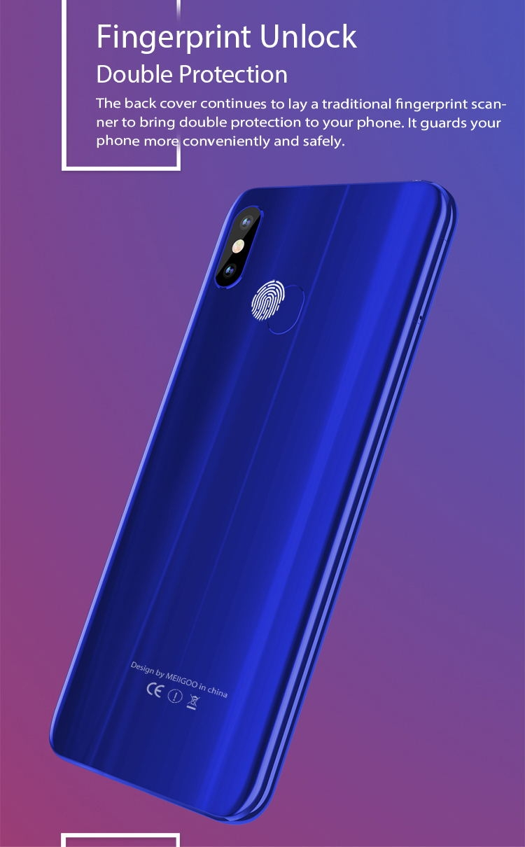 New mobile phone HS9+ 6.18Inch 3+32GB Powrrful 5000mAh 13+5MPbeauty camera Smart phone android 8.1 lake blue 11