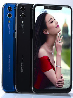 Mobile phone HF20 6.2Inch 4+64GB Powrrful 6800mAh battery 21+8MP Beauty camera side key/Smart phone blue