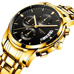 fashion watches men Non-mechanical Hollow Stainless Quartz Watch for smartwatch Stainless Steel gold one size