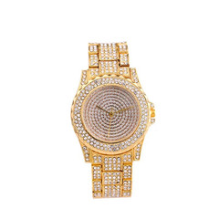 Hot Fashion Quartz watch women Non-mechanical Hollow  Watch for smartwatch like jewelry gold+white one size