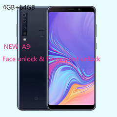New mobile phone A9 6.1 Inch 4GB+64GB  16MP+8MP Smartphone android 8.1 gradient blue